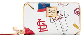 Dooney & Bourke MLB Cardinals Zip Around Phone Wristlet