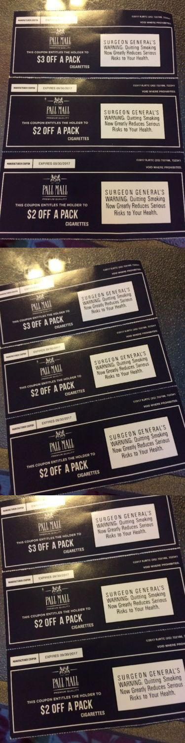 Coupons: Pall Mall Cigarettes Coupons Total Savings $7.00 -> BUY IT NOW ONLY: $4.78 on eBay!