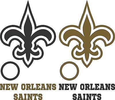 New Orleans Saints Cornhole Set of 6 Vinyl Decal Stickers Bean Bag Toss Game nfl