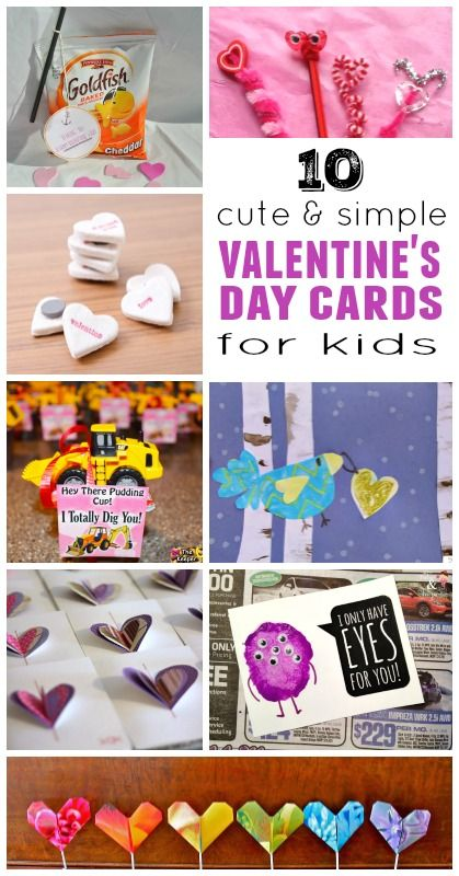 Diy Valentine Cards For Kids Housingaforest Pinterest