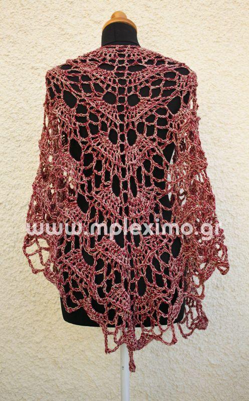 yes yes shawl - πλεκτό σάλι βελονάκι - crochet shawl