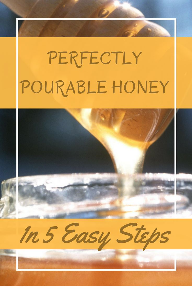 The quick simple steps to make your hard, crystallized old honey easy to use and pourable again!