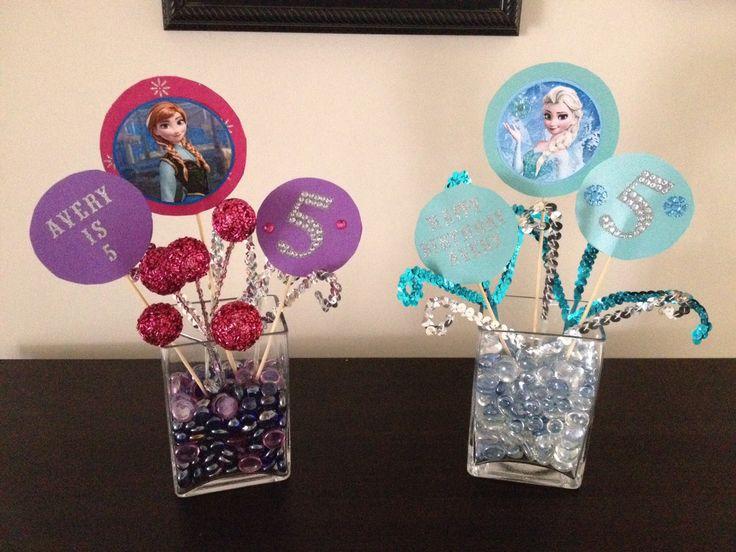 Disney Frozen birthday decorations... DIY