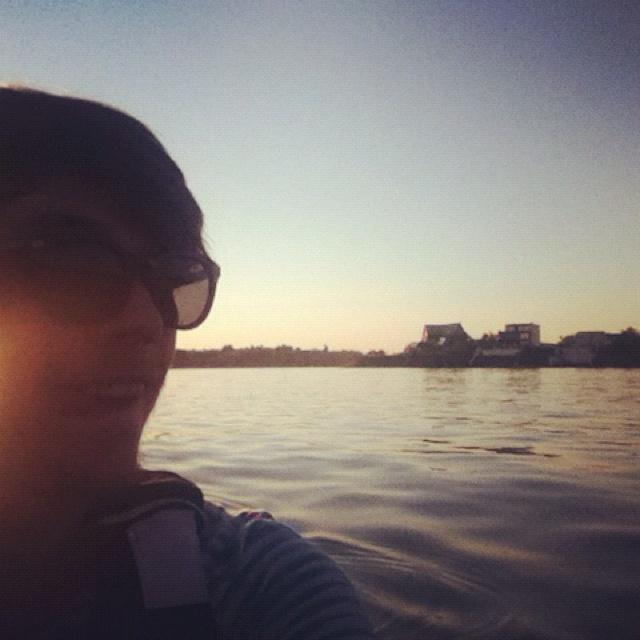 cu caiacul (lacul Snagov)
