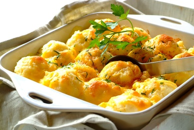 Garlic And Herb Potato Bake - the perfect accompaniment to barbecued chicken, steak or chops