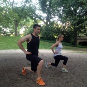 Couple's outdoor workout #strength & #unity #TRS2013