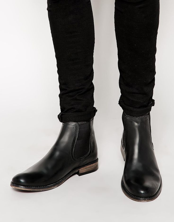 ASOS Chelsea Boots in Black Leather