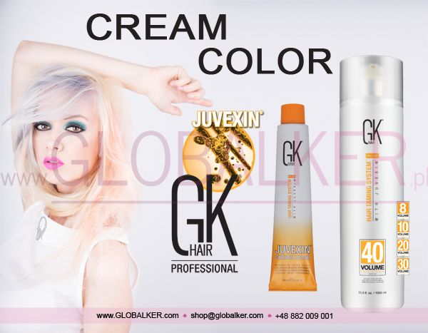 GK Hair cream color Global Keratin Juvexin
