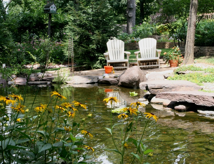 17 best images about pond and water feature design ideas for Design of water harvesting pond