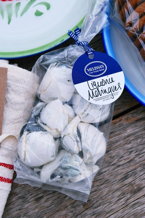 Serve our Liquorice Meringues as a treat or break over ice-cream for an easy delicious dessert. #MothersDay #Gifts