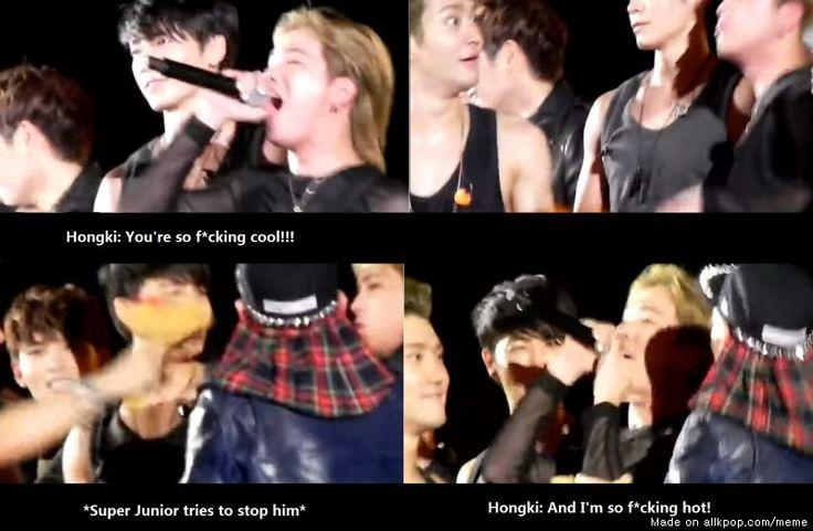 Hongki's ending speech at the Golden Disk Awards! Nobody can stop Hongki! Siwons face though hahaha!
