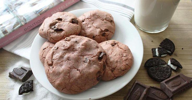 Cookies de Nutella y oreo red velvet INSUPERABLES