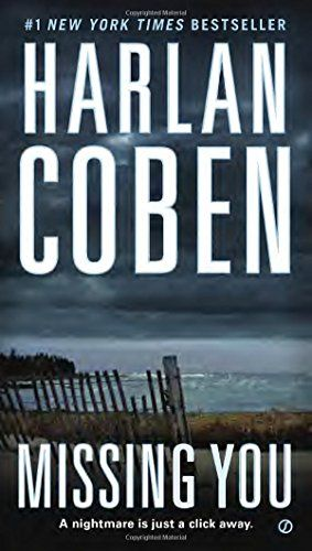Missing You by Harlan Coben :  The story examines what can happen to people who use online dating sites, and his hypothesis builds to a truly frightening conclusion.   http://www.amazon.com/dp/0451414128/ref=cm_sw_r_pi_dp_LJTrvb0AD6002