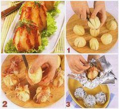 Szalonnás sült krumpli