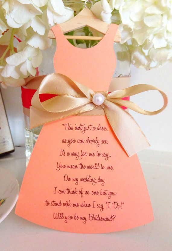 Six Ways To Ask Your Bridesmaid Personalised Card Chwv