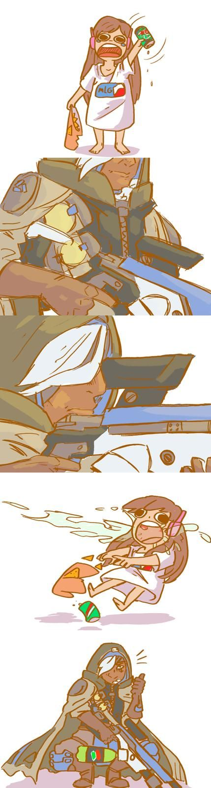 Truely a Support Class. Overwatch D.va and Ana