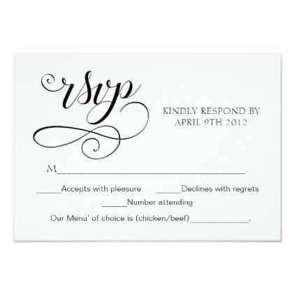 118 best wedding rsvp response cards images on pinterest invites swirl typography rsvp card script response card wedding invitations diy cyo special idea personalize card stopboris Images