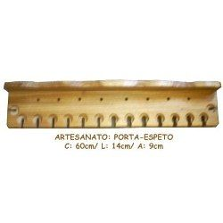 Artesanato: Porta-espeto Ou Porta-faca Em Madeira Maciça - Mato Grosso - Arte - Coleções - Antigüidades