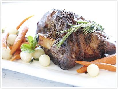 ... honey-roasted-lamb# Orange Blossom Honey and Herb Pot Roasted Leg of