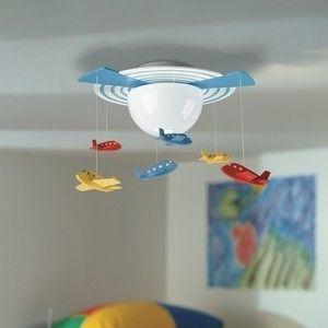 Ontdek het luchtruim! De Philips myKidsRoom Avigo plafondlamp neemt uw kind mee naar de wereld van luchtvaart, waar vliegtuigen opstijgen, door de lucht cirkelen en weer landen. De duurzame, energiezuinige sprookjeslamp houdt de kamer goed verlicht.