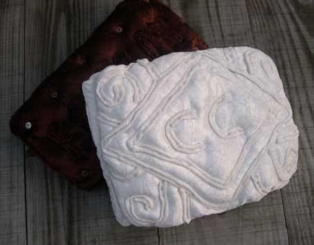 Beth Wizard Embroidery Custard Cream Biscuit Cushion