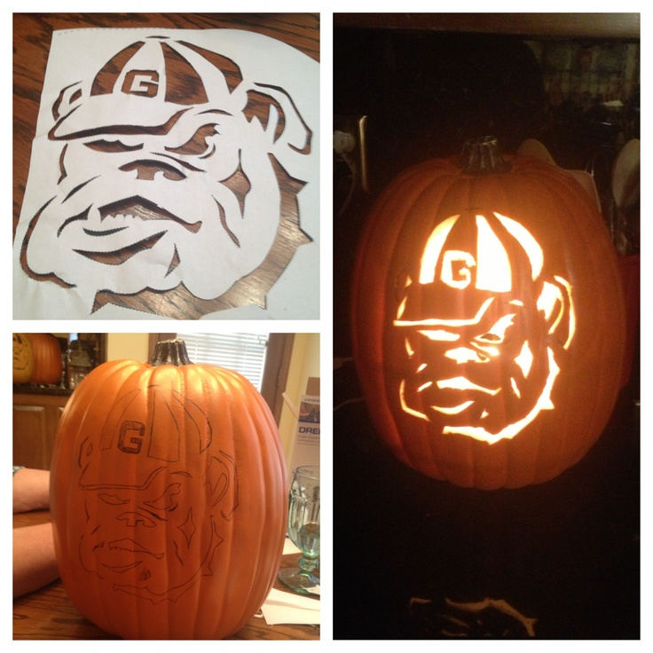 bulldog pumpkin stencil 27 best georgia bulldogs halloween images on pinterest 7670