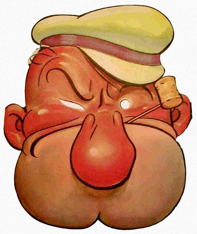 Popeye Paper Face Mask 1930 Vaghzie Pinterest Masks Jiminy Cricket And