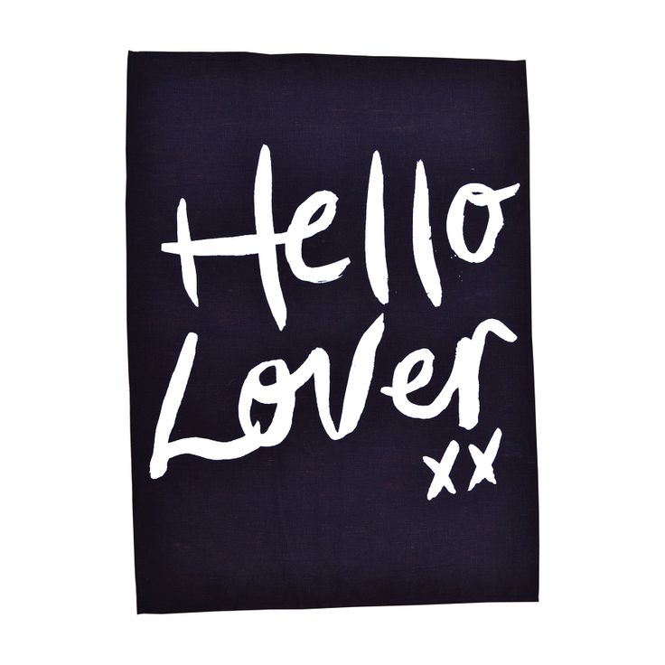 Hello Lover Tea Towel Pearl