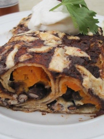 ... and Yam Enchiladas with Mole Sauce | Mole Sauce, Mole and Enchiladas