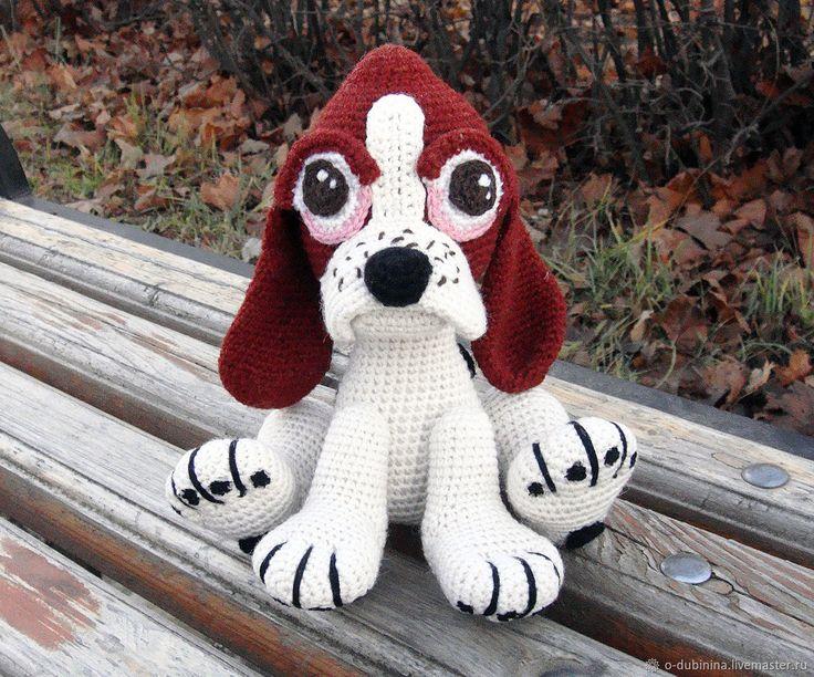 Купить Щенок бассета. Игрушка собачка - символ 2018 года в интернет магазине на Ярмарке Мастеров