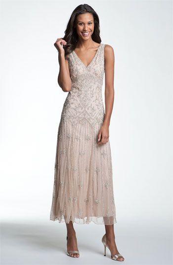 Pisarro Nights V-Neck Beaded Sequin Gown | Nordstrom
