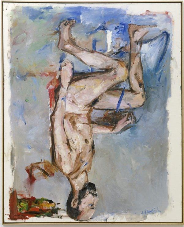 Why does Georg Baselitz paint upside down? Fingermalerie-Akt 1972 @Stedelijk Museum Amsterdam Museum Amsterdam Museum. Tomorrow evening in painting class KNOCKaRT.