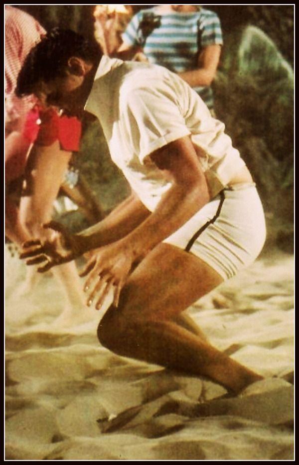 Elvis Presley getting down in Blue Hawaii