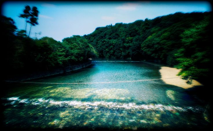 Holy River -- The river of the Gods, the river that passes Ise Grand Shrine, the holiest shrine in Japan. The Goddess Amaterasu lives here.  //By David LaSpina