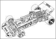 Page 280 of 304 - The cutaway drawing and its artists - posted in The Nostalgia Forum: ferrari 312 b2 by Piola Same drawing class, same model Brian Hatton sitting next to Giorgio Piola Tony Matthews at the other end of the room macoran