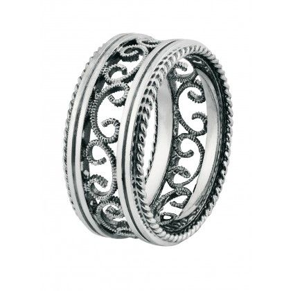 Kalevala Koru / Kalevala Jewelry / Filigree Ring / filigraani -sormus / Material: 14K white gold or 14K yellow gold