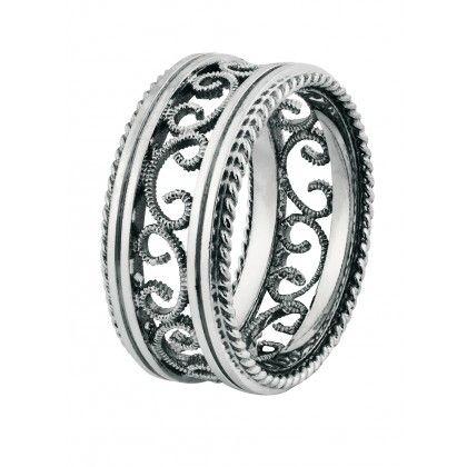 Kalevala Koru / Kalevala Jewelry / Filigree Ring / filigraani -sormus / Material: 14K white gold or 14K yellow gold