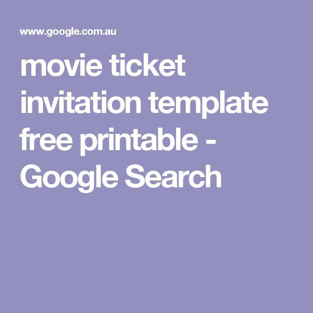 Best 25+ Movie ticket template ideas on Pinterest Movie party - movie ticket template