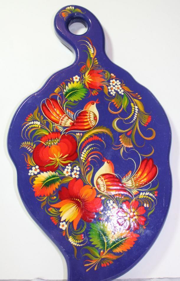 Petrykivka style, Leaf shaped Cutting Board