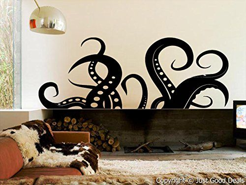 Just Good Deals Vinyl Wall Decal Sticker Octopus Tentacle Sea animal Just Good Deals http://www.amazon.com/dp/B00J10GVFS/ref=cm_sw_r_pi_dp_ENgiub18D82DV