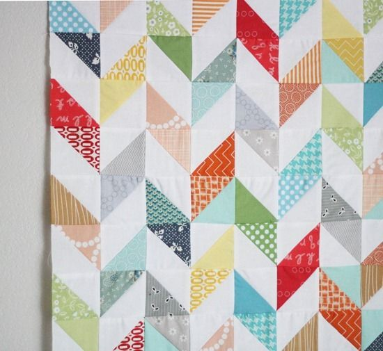 cute HSTs by cluck cluck sew - I would love someone to make a quilt like this with our fabric from our wedding