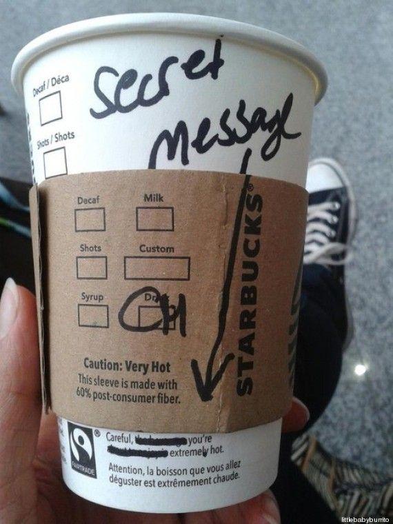 How to flirt thanks to Starbucks? ;-)