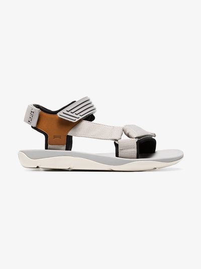Camper Lab x Dust Magazine grey and brown rubber sandals