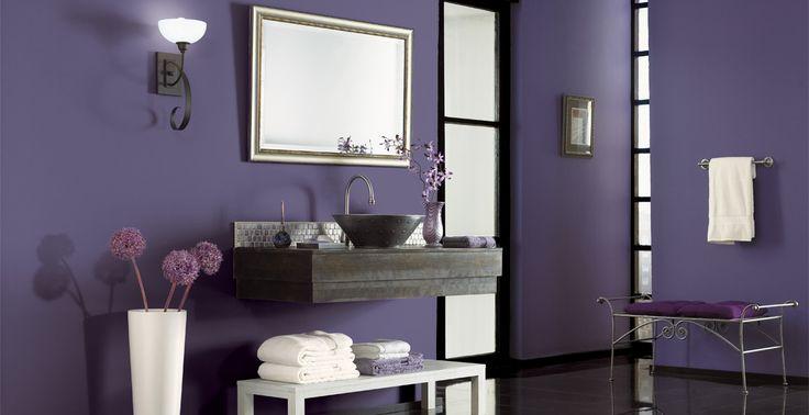 1000 images about purple rooms on pinterest paint - Purple paint colors for bathrooms ...