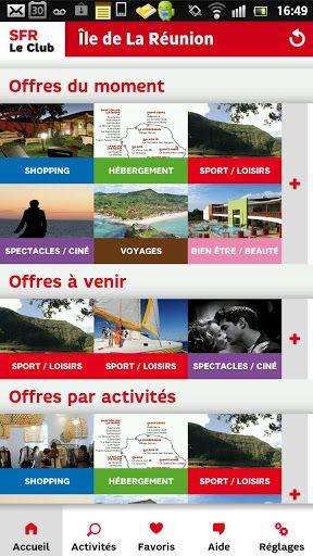 Clients abonnés, La carte, Compte Bloqué de SFR Réunion, avec SFR Le Club, retrouvez toutes les offres privilèges que SFR a négociées pour vous auprès de ses partenaires à la Réunion : hôtels, spectacles, ciné, bien-être/beauté, voyage, shopping, sports/l Venez profitez de la Réunion !! www.airbnb.fr/c/jeremyj1489