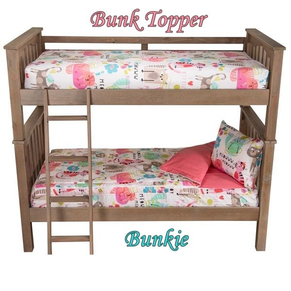 Bunk Topper Four Corner Tailored Mattress Cover Zipper BeddingExtra BedBed Comforter SetsCute