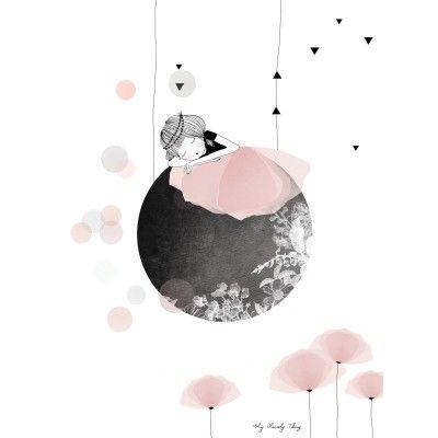 L'affiche Sieste de la collection by My Lovely Thing pour Lilipinso décore et agrémente le mur d'une chambre d'enfant. Elle apportera toute sa gaieté dans la pièce !