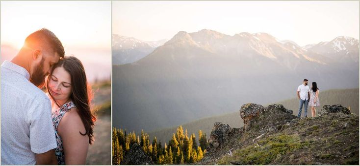 Mountain Engagement Photos | Deer Park Road, Olympic National Park | Adventure Wedding Photographers | Salt and Pine Photography | www.saltandpinephoto.com | #adventure #mountains #engaged #engagement #adventurous #couple #love #sunset #olympic #nationalpark