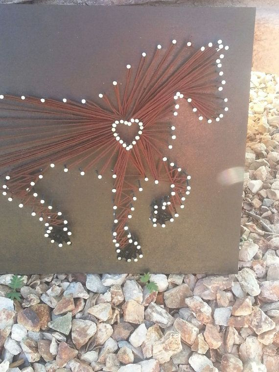 Horse lover, Horse string art, Cowgirl string art, ... | IdealPin
