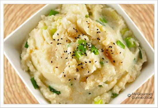 and sesame cauliflower puree scallion and sesame cauliflower puree ...